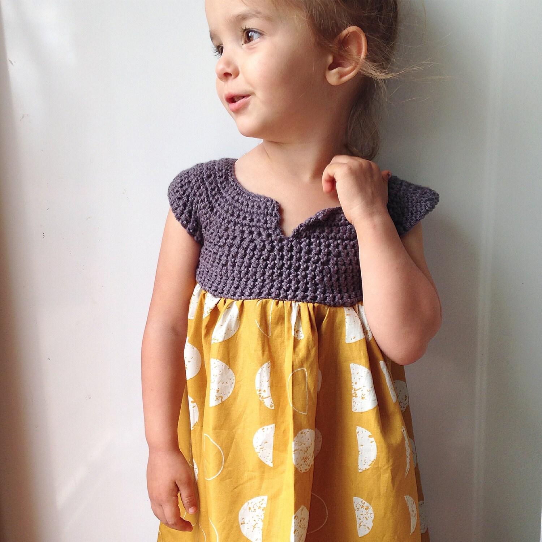 Mädchen dress Senf Baby Kleid Ostern Dress Hochzeit