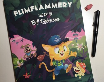 Flimflammery Vol 2: Art By Bill Robinson   Collected Drawings and Designs   Art Book   SIGNED