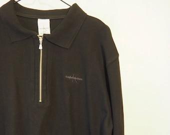 Vintage Calvin Klein shirt-90 bkack s P4