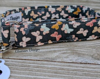 Pastel Butterflies Flutter Greyhound/Sighthound/Dog: House/Tag Collar