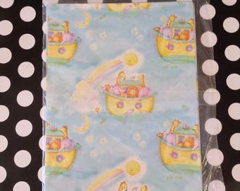 The Ark~Noah's Ark~Baby Gift Wrap~Baby Shower Wrapping Paper~Vintage~NOS~American Greetings