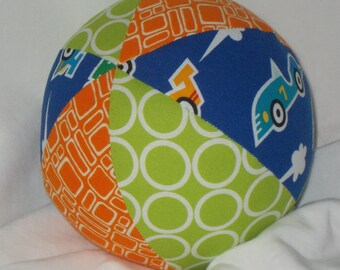 Super Speedway Fabric Boutique Ball Rattle Toy