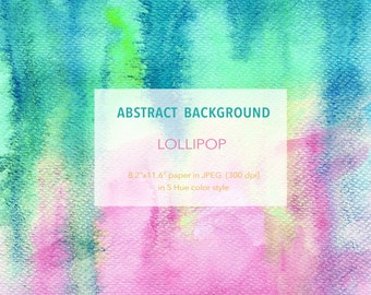 "Abstract Watercolor Digital Background - Lollipop- 8.2""x11.6"" printable, free commercial use, Watercolour digital texture paper download"