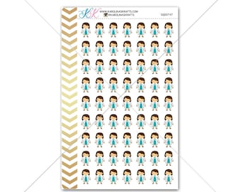 Girl Dentist Stickers for planner, calendar! Functional planner stickers medical sticker functional sticker brunette girl sticker #SQ00747