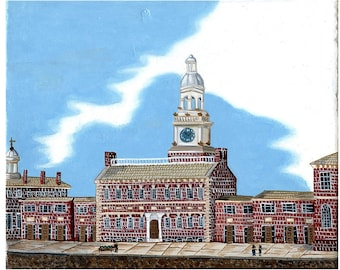 Independence Hall, Philadelphia, 1843, Historic Townscape
