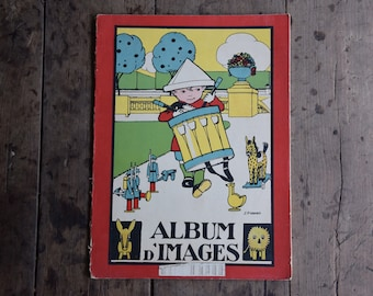 Old Album of pictures for children: 20 boards french stories illustrated