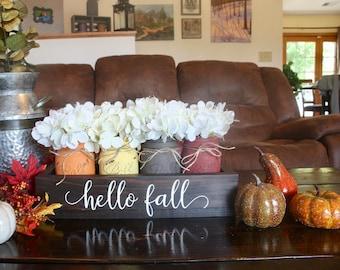 Fall Mason Jars. Fall Centerpiece. Thanksgiving Table Decor. Fall Table Decor. Fall Centerpiece. Rustic Mason Jar Decor. Fall Home Decor.