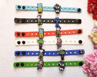 10 Teen Titans Silicone Bracelets Party Favors