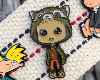 Groot Enamel Pin - Rocket Enamel Pin - Guardians of the Galaxy Enamel Pin - Marvel Enamel Pin  - Hat Pin - Lapel Pin