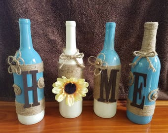 Home Decor Recycled Bottles