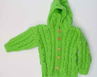 Child's Hooded Jacket with Side Vents