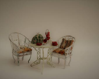 Shabby chic garden set 1:12