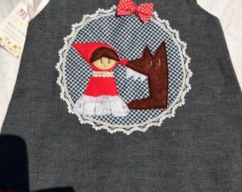 Little Girl Riding Hood red 1/2 months
