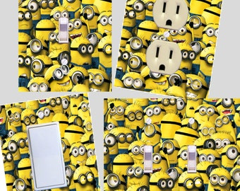 Minions Light switch cover wall plates Kids room decor