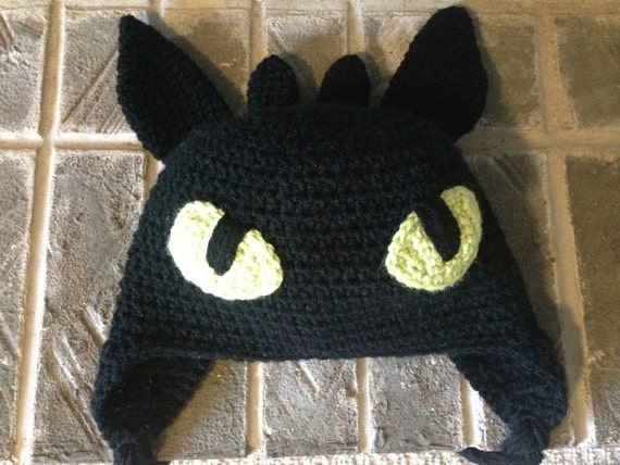 Toothless Dragon Amigurumi Pattern : Toothless how to train your dragon crochet hat pattern