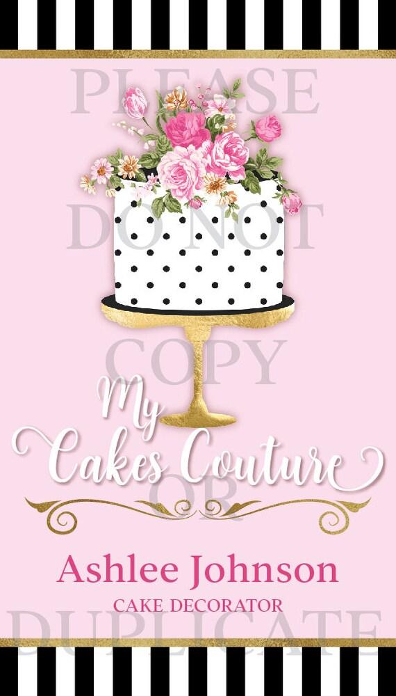 Baker Business Cards CAKE COUTURE Cake Designer Cake