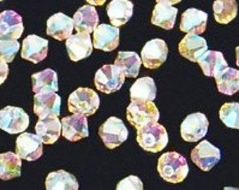 12pc - 5mm Swarovski Crystal AB 2X BiCone Spacer Beads Style 5301 aka 5328