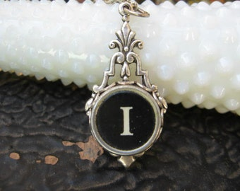 Typewriter Key Jewelry - Typewriter Necklace - Letter I - Typewriter Charm - Vintage Key
