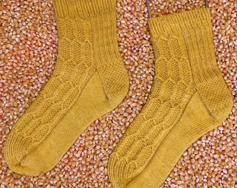Cornlette Socks knitting pattern PDF download