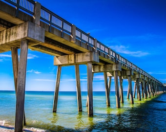 Panama City Beach Pier Fine Art Print - Travel, Scenic, Landscape, Nature, Home Decor, Zen