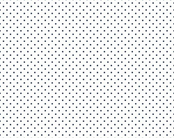 1 Yard- NAVY  Swiss Dot by Riley Blake Designs- 660-21