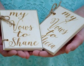 his and hers vow books, personalized wedding vows books, rustic wedding, barn wedding, set of 2