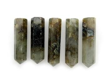 Labradorite Pencil Point Bead -  Labradorite Point Top Side Drilled Bead - (RK45B4)