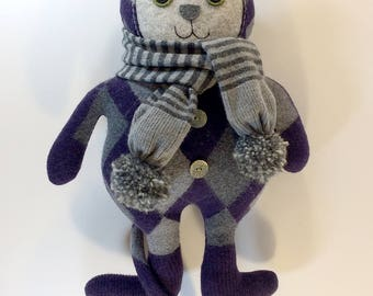 Argyle Purple Cat