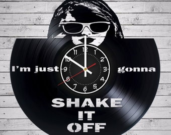 Taylor Swift Shake It Off Vinyl Record Wall Clock 12 inches/ 30 cm Music home decor gifts for women children Art decorations TJ