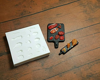 Mold/ mould Dollhouse Miniature 1/12 Meat Collection Japanese Style