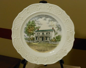 James Whitcomb Riley Birthplace Commemorative Plate