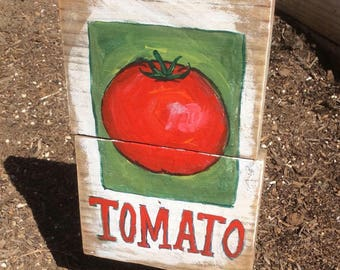 Tomato Garden Sign or Hanging Sign