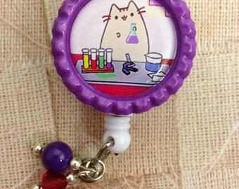 Laboratory Scientist cat retractable badge reel lab week gift