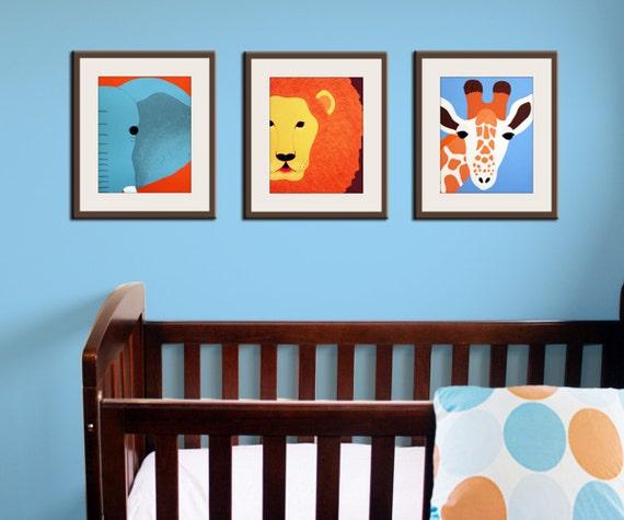 Safari Nursery Ideas: Jungle Nursery Decor. Baby Nursery Art Prints. Safari Theme