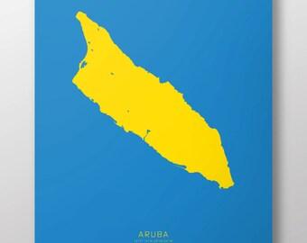 """Aruba 14"""" x 20"""" Print"""
