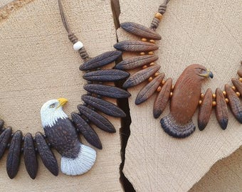 Totem Eagle Necklace (made to order)
