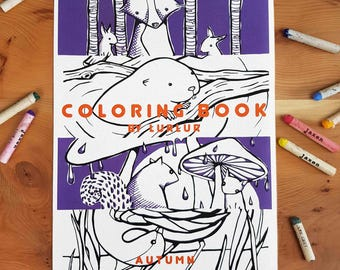Coloringbook autumn