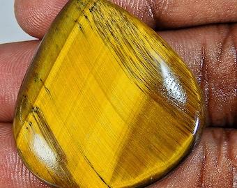 Brown Tiger Eye Pear 31X34X5 Mm Cabochon  Gemstone ;#1892