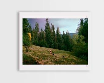 mountains photos, landscape photos, naked man photos, carpathian mountains, nature harmony, canvas photo prints, wall art decor, eye poetry