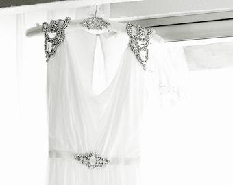 Wedding Dress Hanger, Rhinestone Hanger, Vintage Style Bridal Gown Hanger, Wedding Gift, Photography Prop, Bridal Shower