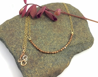 Brass Single 14k Gold Filled Necklace