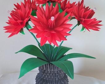 Paper Flower Vase / Centerpiece / Wedding Decorations / Home Decorations / Flower Vase / Decorations