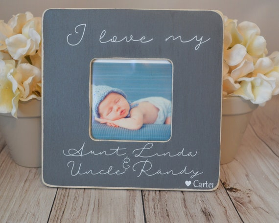 Aunt and Uncle picture frame Custom picture frame I love my aunt and ...