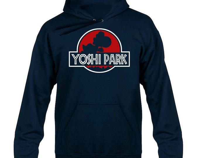Yoshi Park Movie Jurassic Parody Hoody Hoodie Hooded Sweater (Red Logo)