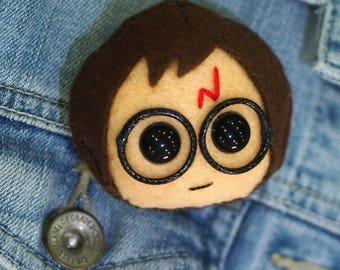 """Handmade Harry Potter Inspired Brooch Pin Badge 3""""/7cm"""