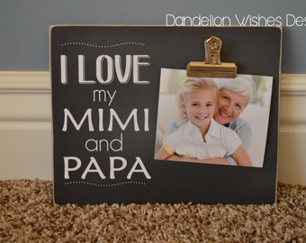 Grandparents Personalized Picture Frame Gift For Grandma Nana Papa