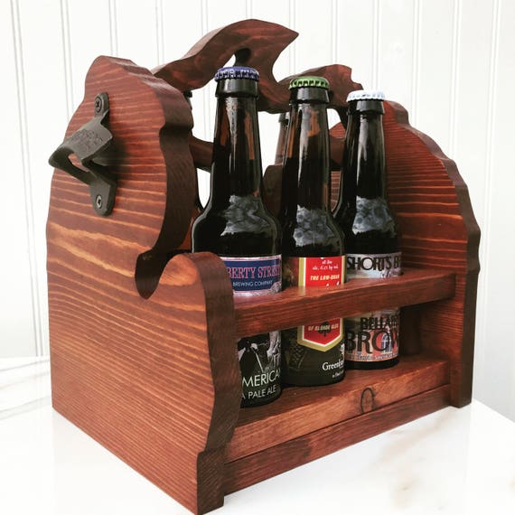 Michigan  Beer Caddy (Standard bottle)