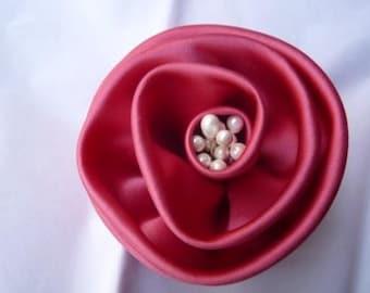 Large Silk Flower Pin