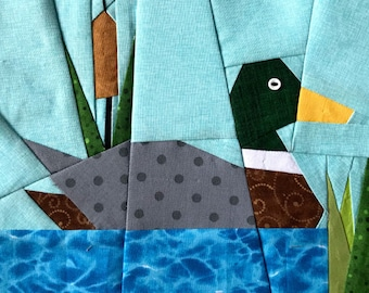 Mallard On The Lake Paper Piecing Pattern in PDF
