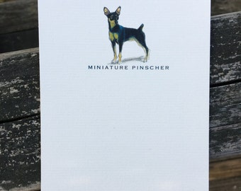 Miniature Pinscher Dog Note Card Set